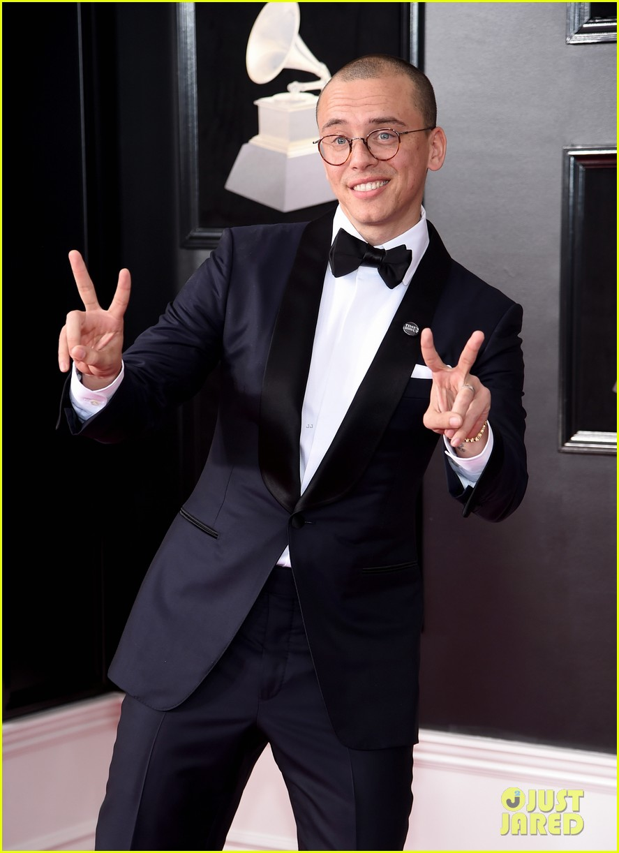 Logic Couples Up With Wife Jessica Andrea on Grammys 2018