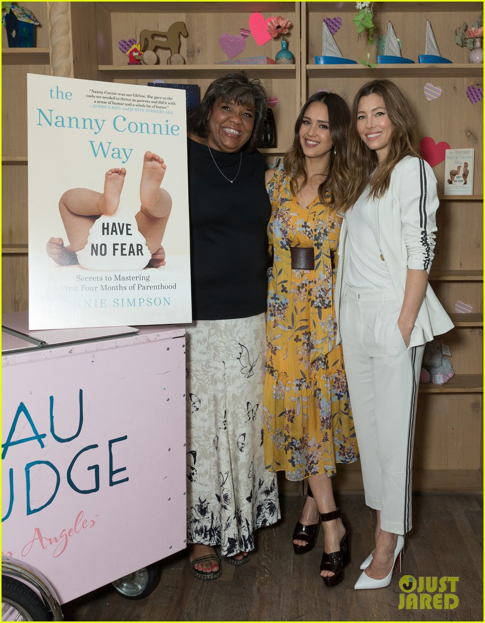 jessica biel jessica alba celebrate launch of the nanny connie way 044071453