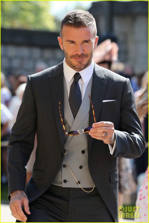 David & Victoria Beckham Attend Royal Wedding 4086256