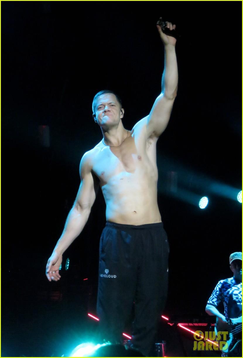 Imagine Dragons Dan Reynolds Goes Shirtless Shows Off