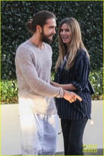 Heidi Klum & Tom Kaulitz Kiss Share Playful Moment
