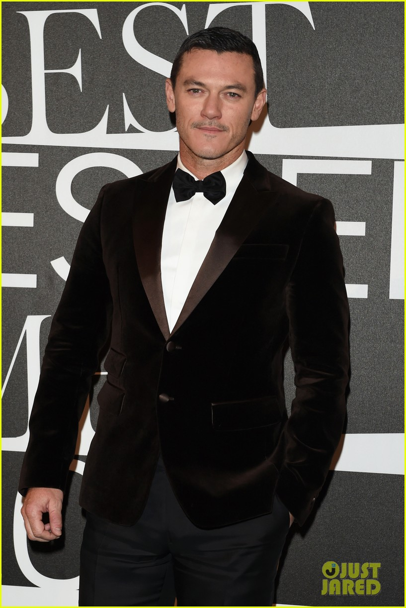 Luke Evans Suits Up For GQ Best Dressed Men Event In