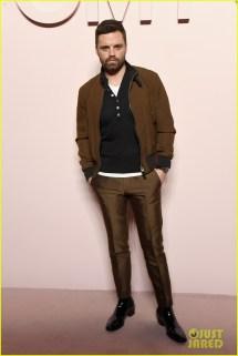 Sebastian Stan & Karlie Kloss Watch Gigi Hadid Walk In Tom