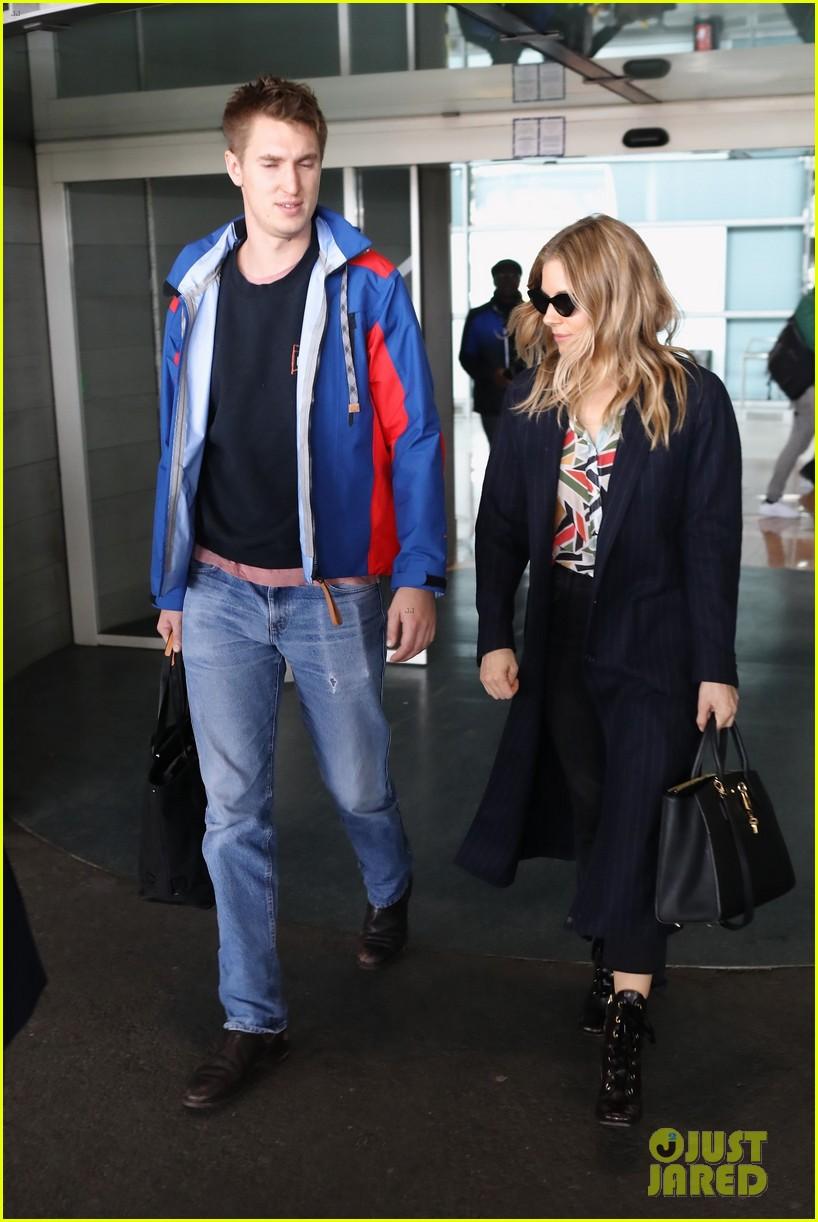 Sienna Millers New Boyfriend Lucas Zwirner Joins Her In