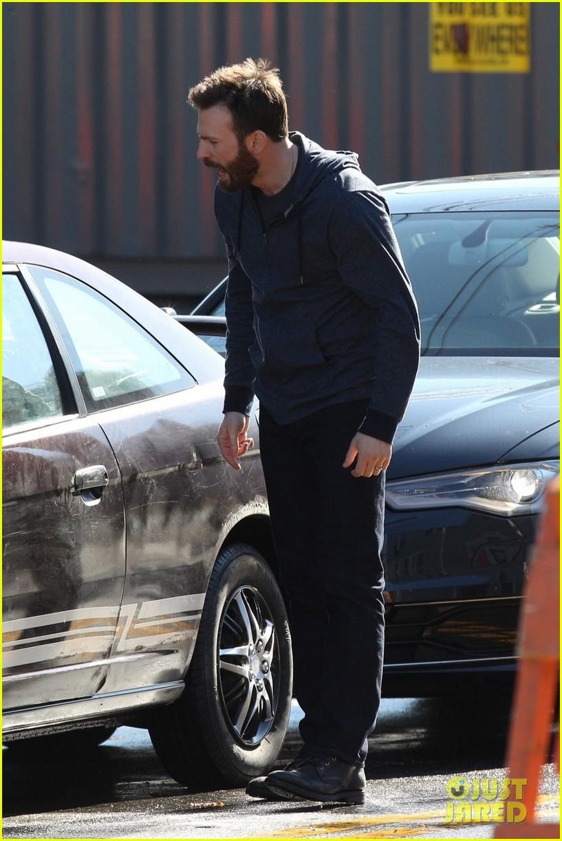 Chris Evans Begins Filming Defending Jacob  See the Set