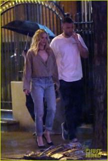 Jennifer Lawrence & Fiance Cooke Maroney Brave Rainy