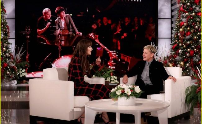 Dakota Johnson S Awkward Exchange With Ellen Degeneres