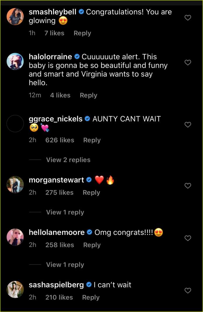 celebs congratulate emma roberts garrett hedlund baby announcement 034479489