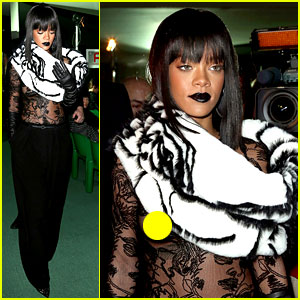 Rihanna Exposes Her Boob at Jean Paul Gaultier Fashion Show