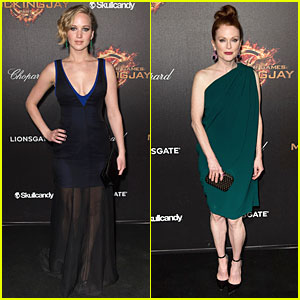 Jennifer Lawrence & Julianne Moore Are Dark & Sexy at 'Mockingjay Part 1' Cannes Party!