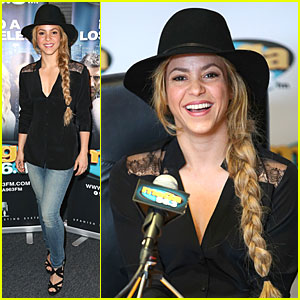 Shakira Rocks Braids to New Spanish Radio Station Unveiling!