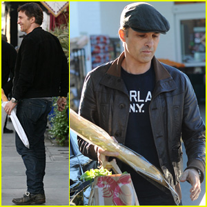 Olivier Martinez Picks Up His Daily Baguette After Signing with New Talent Agency   Olivier Martinez : Just Jared