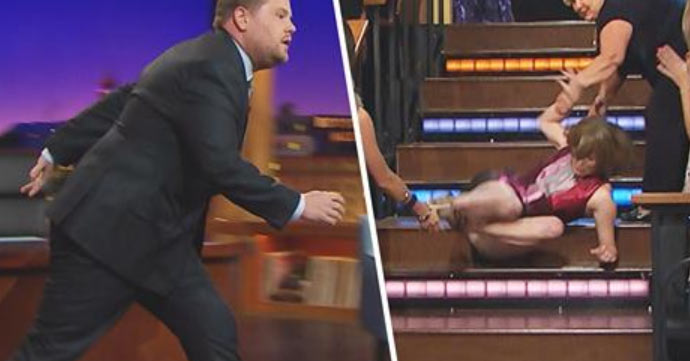 Katie Couric Pulls Funny April Fools Prank on James Corden  James Corden Katie Couric  Just