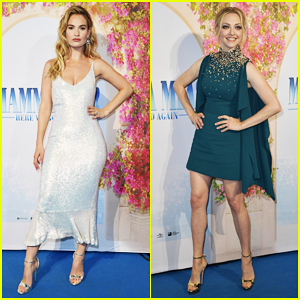 Lily James & Amanda Seyfried Join 'Mamma Mia' Sequel Cast at Sweden Premiere!