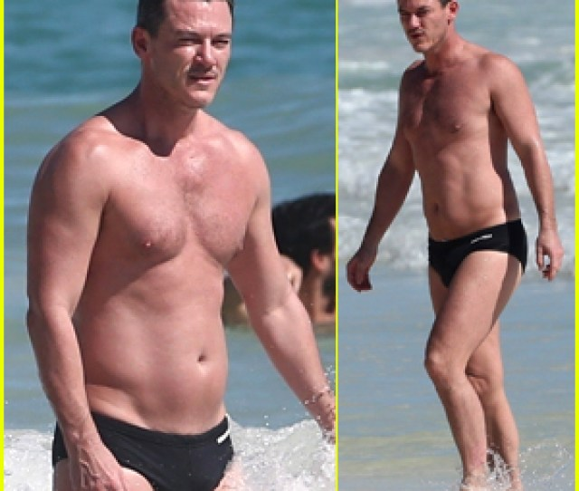 Luke Evans Bares Hot Body In Tiny Speedo On Vacation In Mexico
