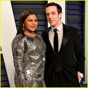 Mindy Kaling & BJ Novak Hit the Red Carpet at Vanity Fair's Oscars Party