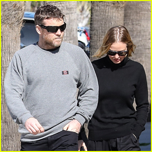 Sam Worthington & Wife Lara Show PDA in Rare Spotting