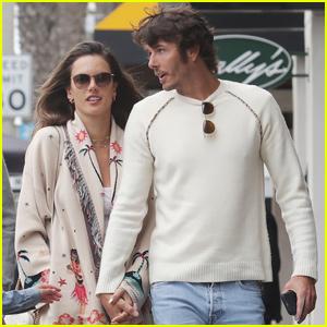 Alessandra Ambrosio & Nicolo Oddi Couple Up For Family Lunch