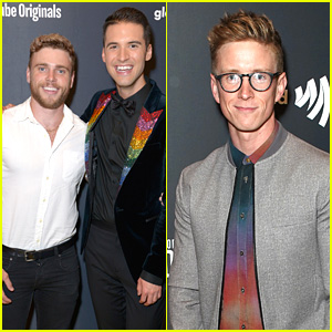 Tyler Oakley & Gus Kenworthy Support Raymond Braun at 'State of Pride' Premiere