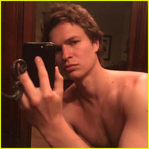 Ansel Elgort Posts 17 Shirtless Selfies in a Row, Girlfriend Violetta Picks Her Favorite One