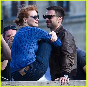 Jessica Chastain & Sebastian Stan Film More Romantic Scenes for '355' Movie!