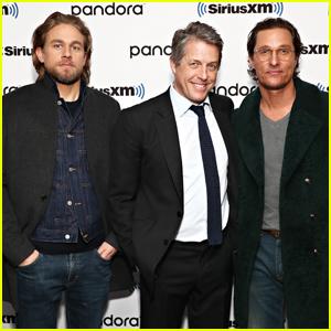 Matthew McConaughey Joins 'The Gentlemen' Co-Stars Charlie Hunnam & Hugh Grant for Day of Press!