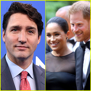 Justin Trudeau Is Asked If Canada Would Cover Meghan Markle & Prince Harry's Security Costs