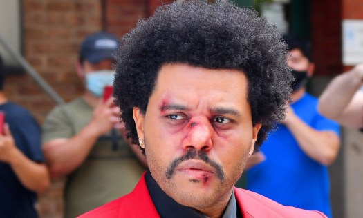The Weeknd Steps Out with Bruised Face Makeup, Seemingly ...