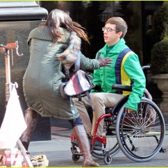 Wheelchair Glee Posture Chair Ikea Kevin Mchale Run In On 39glee 39 Set Photo