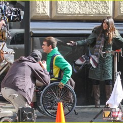 Wheelchair Glee Chair Stand Up Test Kevin Mchale Run In On 39glee 39 Set Photo