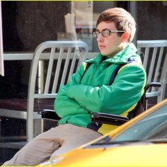 Wheelchair Glee Hanging Chair Indoor Amazon Kevin Mchale Run In On Set Photo 645345 Crash Scenes 20