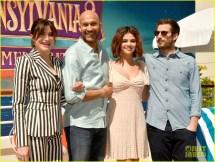 Selena Gomez Poses With 'hotel Transylvania' Character