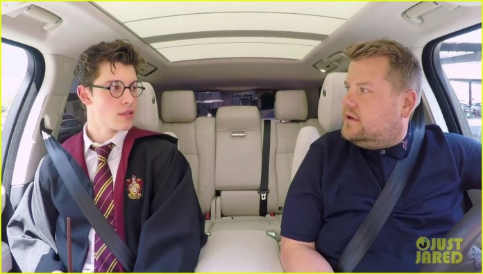 Znalezione obrazy dla zapytania Shawn Mendes pojawił się w Carpool Karaoke