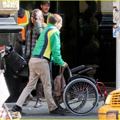Wheelchair Glee Tattoo Chairs For Sale Kevin Mchale Run In On 39glee 39 Set Photo