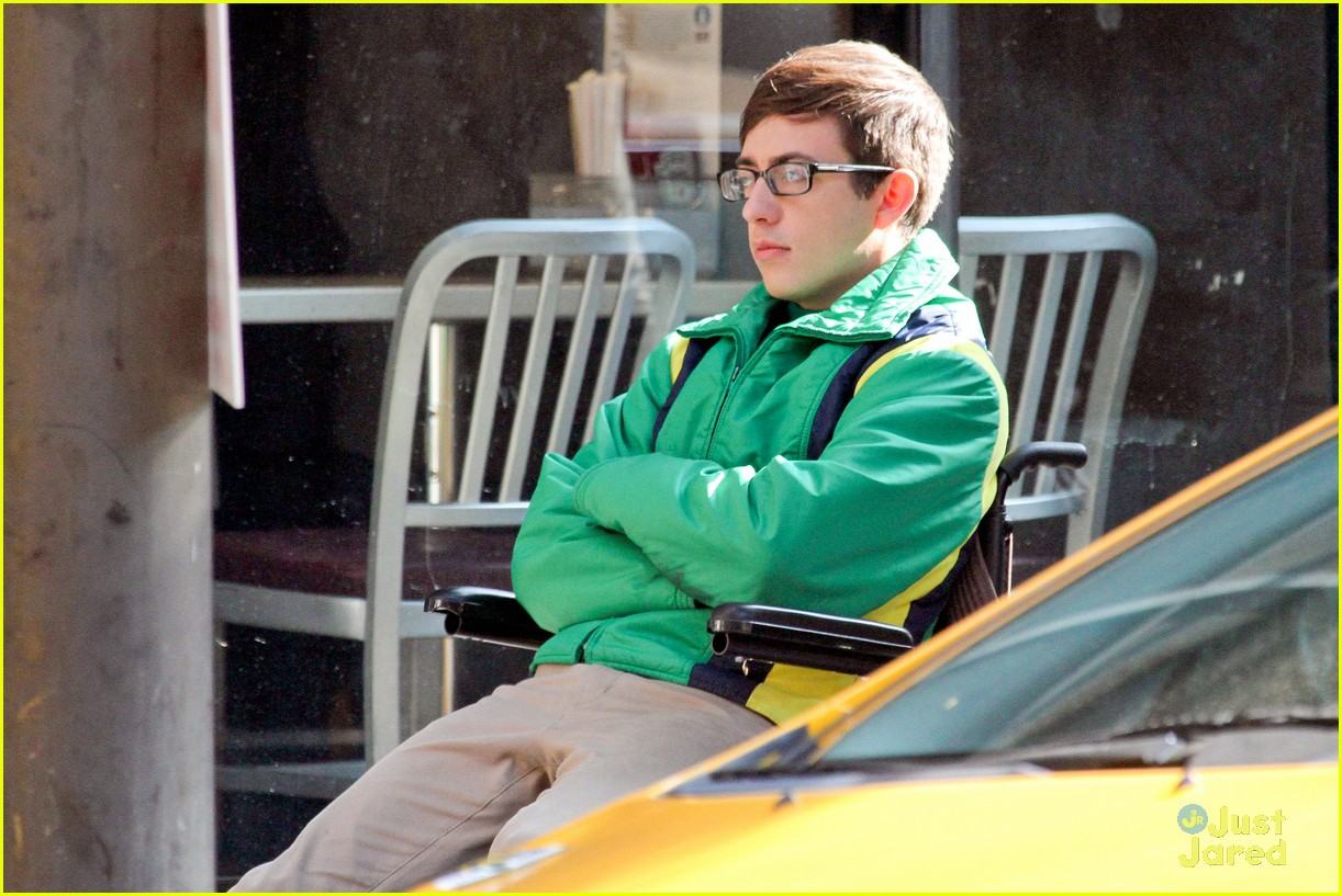 wheelchair glee rocking recliner chairs kevin mchale run in on 39glee 39 set photo