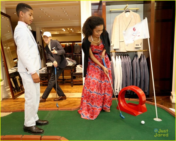 Yara Shahidi & Nolan Gould Play Mini-golf Raise Monies St. Jude 980105