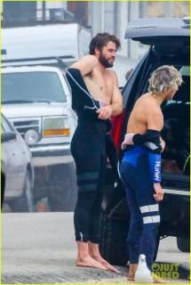 Liam Hemsworth In Day Of Surfing Malibu