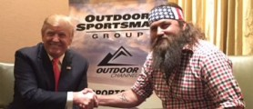 Duck Dynasty star Willie Robertson announced Thursday he is backing Donald Trump for president. (Twitter)