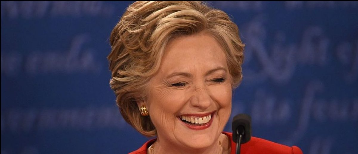 Hillary Clinton speaks during the first 2016 presidential debate at Hofstra University (Getty Images)