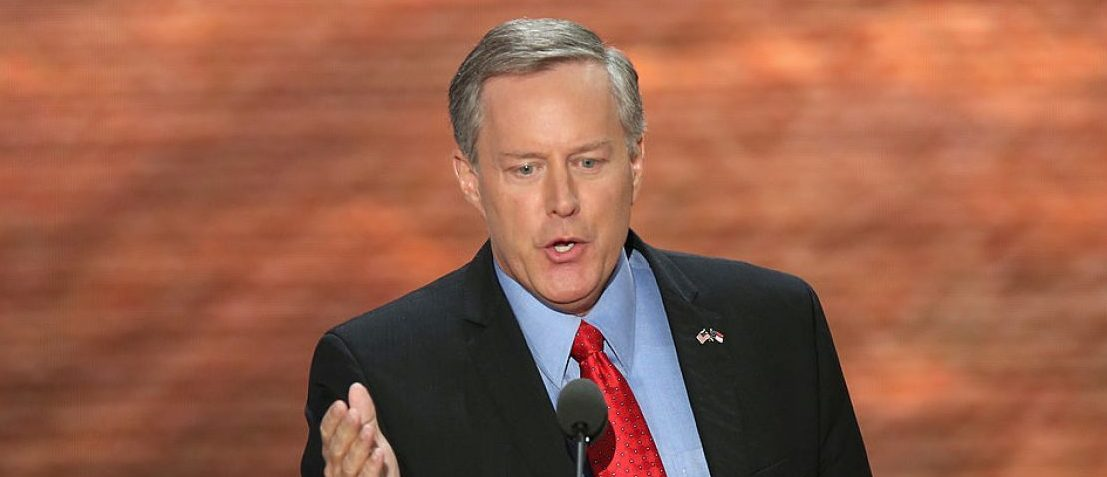 TAMPA, FL - AUGUST 28: North Carolina 11th District GOP Congressional nominee Mark Meadows speaks during the Republican National Convention at the Tampa Bay Times Forum on August 28, 2012 in Tampa, Florida. Today is the first full session of the RNC after the start was delayed due to Tropical Storm Isaac. (Photo by Mark Wilson/Getty Images)
