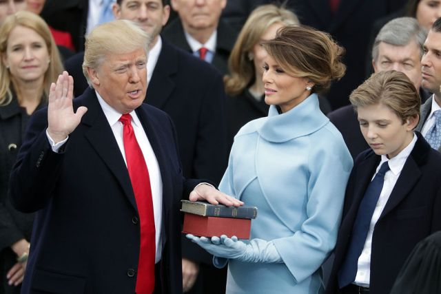 Donald Trump, Melanie Trump, Barron Trump (Getty Images)
