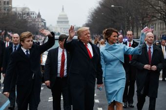 Barron, Donald and Melania Trump (Getty Images)