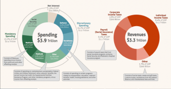 Discretionary and mandatory spending in FY2016. (Image: Congressional Budget Office/Released)