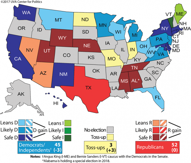 Used with permission by Larry Sabato's Crystal Ball/UVA Center For Politics