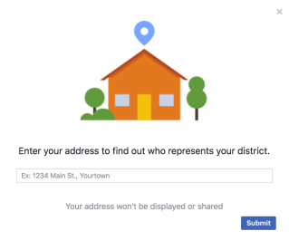 """Townhall"" feature on the social media platform. [Facebook - Screenshot]"