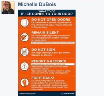 screenshot: Rep. Michell DuBois Facebook
