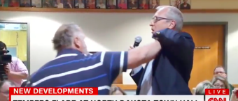 Getting Dangerous: Man Gets Physical With GOP Congressman At Town Hall [VIDEO]
