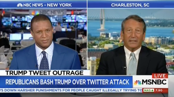 MSNBC Asks Mark Sanford If Trump's Tweets Are Sexist