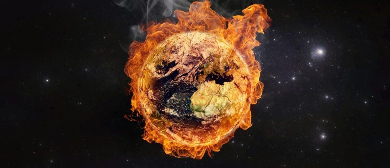 Planeta Terra em chamas, conceito de aquecimento global. Elementos desta imagem fornecidos pela NASA (Shutterstock / Martin Capek)