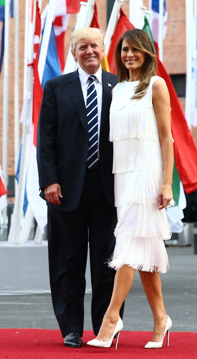 U.S. President Donald Trump and his wife Melania Trump at the G20 summit in Hamburg, Germany. (Photo: REUTERS/Wolfgang Rattay)